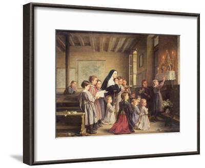 Morning Prayers-Andre Henri Dargelas-Framed Giclee Print