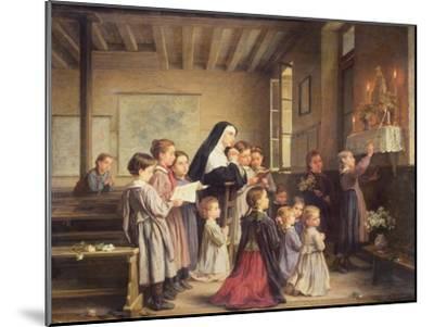 Morning Prayers-Andre Henri Dargelas-Mounted Giclee Print