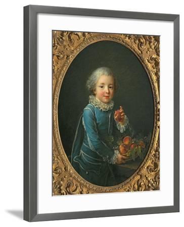 Boy with Peaches, 1760-Francois-Hubert Drouais-Framed Giclee Print