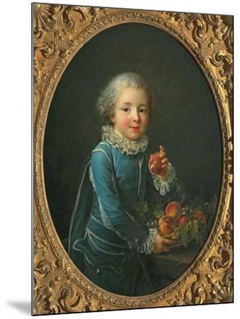 Boy with Peaches, 1760-Francois-Hubert Drouais-Mounted Giclee Print