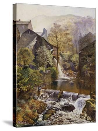 The Old Water Mill-James Duffield Harding-Stretched Canvas Print