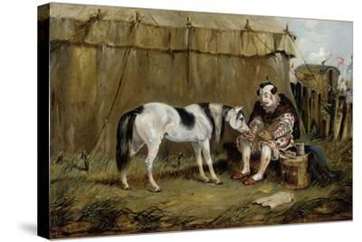 Circus, Pony and Clown-Samuel Henry Alken-Stretched Canvas Print