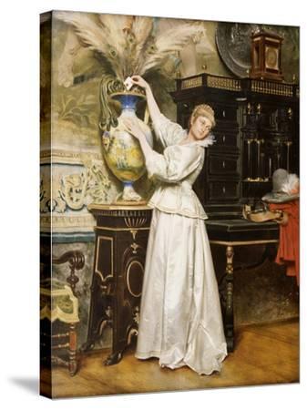 The Secret Postbox, 1876-Tito Conti-Stretched Canvas Print