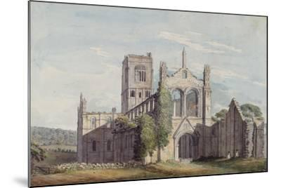 North West View of Kirkstall Abbey, 1777-Moses Griffiths-Mounted Giclee Print