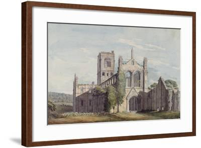 North West View of Kirkstall Abbey, 1777-Moses Griffiths-Framed Giclee Print