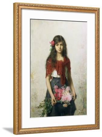 The Flower Seller-Alexei Alexevich Harlamoff-Framed Giclee Print