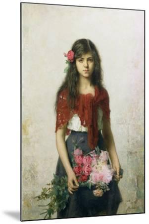 The Flower Seller-Alexei Alexevich Harlamoff-Mounted Giclee Print