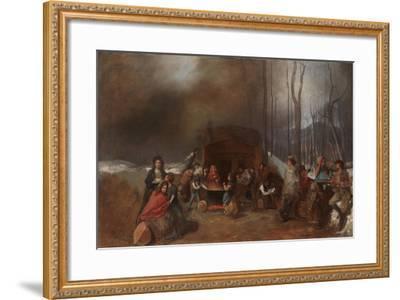 Sugaring Off, C.1865-Eastman Johnson-Framed Giclee Print