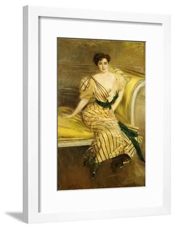 Portrait of Madame Josephina Alvear De Errazuriz, 1892-Giovanni Boldini-Framed Giclee Print