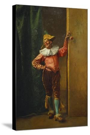Polichinelle in Pink, 1879-Jean-Louis Ernest Meissonier-Stretched Canvas Print