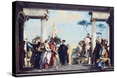 The Arrival of Henri III at the Villa Contarini, before 1750-Giovanni Battista Tiepolo-Stretched Canvas Print