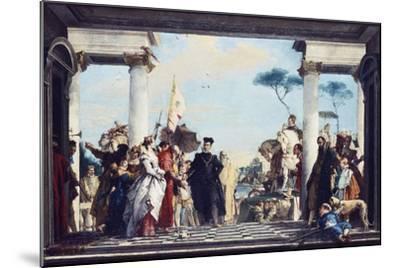 The Arrival of Henri III at the Villa Contarini, before 1750-Giovanni Battista Tiepolo-Mounted Giclee Print