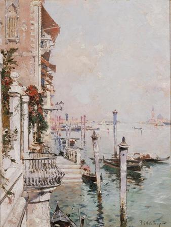 The Grand Canal, Venice-Franz Richard Unterberger-Framed Giclee Print
