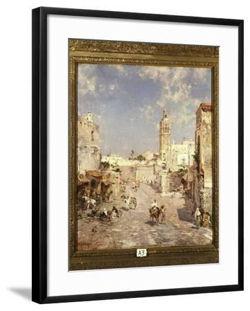 Figures in a Moorish Town-Franz Richard Unterberger-Framed Giclee Print