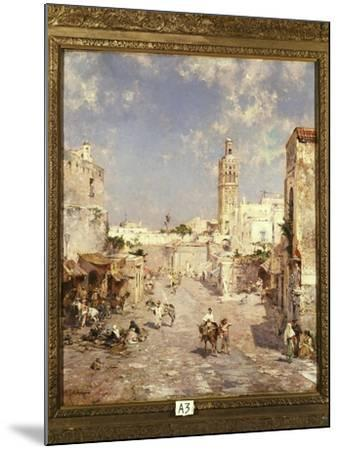 Figures in a Moorish Town-Franz Richard Unterberger-Mounted Giclee Print