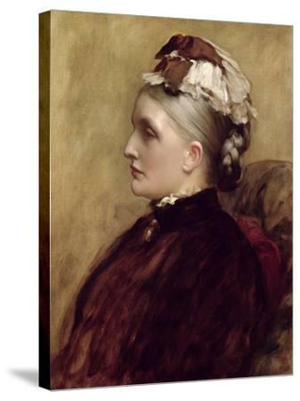 Alexandra Leighton (Mrs Sutherland Orr) (1827-1903), 1891-Frederic Leighton-Stretched Canvas Print