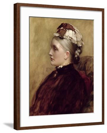 Alexandra Leighton (Mrs Sutherland Orr) (1827-1903), 1891-Frederic Leighton-Framed Giclee Print