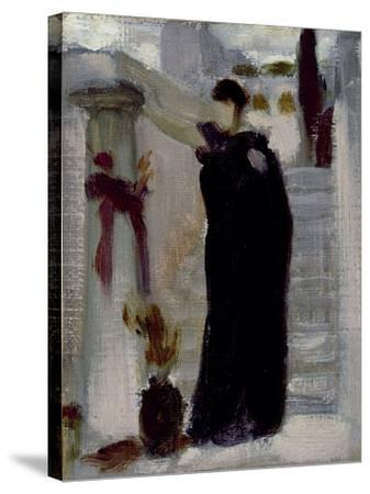Sketch for 'Electra at the Tomb of Agamemnon', C.1869-Frederic Leighton-Stretched Canvas Print
