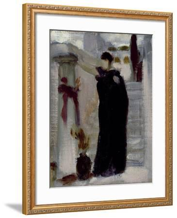 Sketch for 'Electra at the Tomb of Agamemnon', C.1869-Frederic Leighton-Framed Giclee Print
