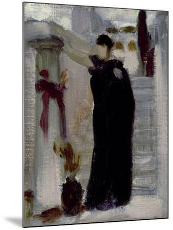 Sketch for 'Electra at the Tomb of Agamemnon', C.1869-Frederic Leighton-Mounted Giclee Print