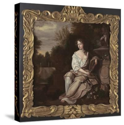 Portrait of Nell Gywn with Frame, 1670s-Sir Peter Lely-Stretched Canvas Print