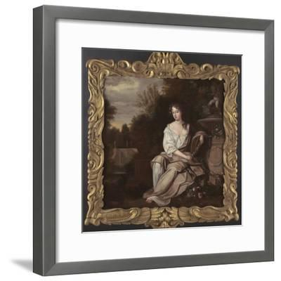 Portrait of Nell Gywn with Frame, 1670s-Sir Peter Lely-Framed Giclee Print