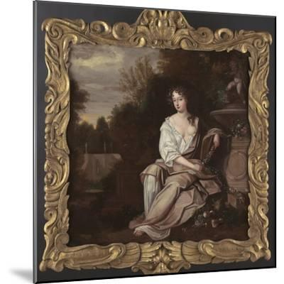 Portrait of Nell Gywn with Frame, 1670s-Sir Peter Lely-Mounted Giclee Print