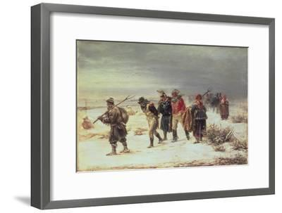 In the Year 1812 (The Retreat from Moscow) 1873-Illarion Mikhailovich Pryanishnikov-Framed Giclee Print