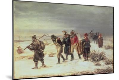 In the Year 1812 (The Retreat from Moscow) 1873-Illarion Mikhailovich Pryanishnikov-Mounted Giclee Print