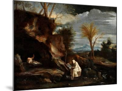 Landscape with Two Carthusian Monks-Pier Francesco Mola-Mounted Giclee Print