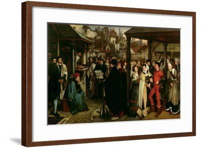 The Edict of Charles V, C.1861-Jan August Hendrik Leys-Framed Giclee Print