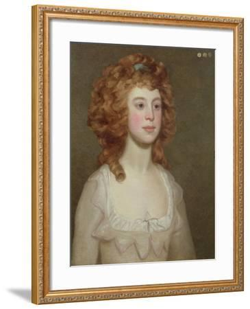 Portrait of a Young Woman, C.1790-Philip Reinagle-Framed Giclee Print