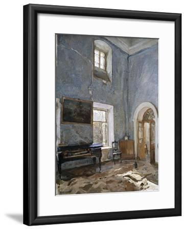 The Hall in the Old House, the Obinskys' Estate, Belkino-Valentin Aleksandrovich Serov-Framed Giclee Print