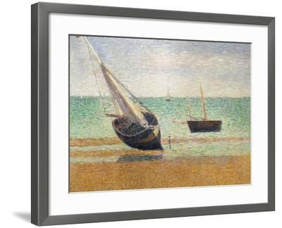 Low Tide at Grandcamp, 1885-Georges Seurat-Framed Giclee Print
