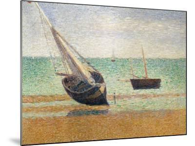 Low Tide at Grandcamp, 1885-Georges Seurat-Mounted Giclee Print
