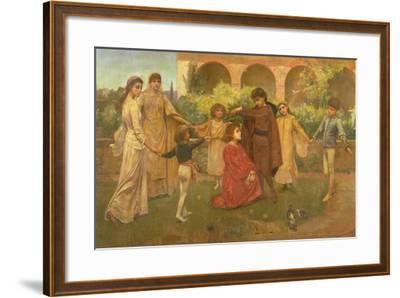 The Childhood of Dante-Jessie Macgregor-Framed Giclee Print