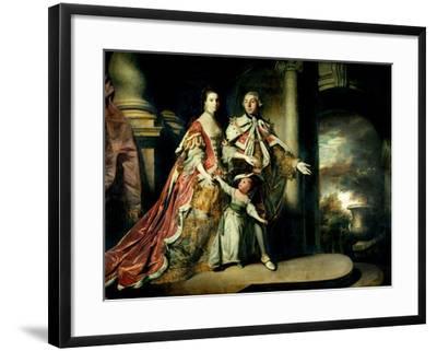 Earl and Countess of Mexborough, with their Son Lord Pollington, 1761-64-Sir Joshua Reynolds-Framed Giclee Print
