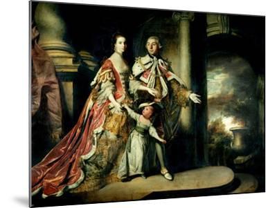 Earl and Countess of Mexborough, with their Son Lord Pollington, 1761-64-Sir Joshua Reynolds-Mounted Giclee Print