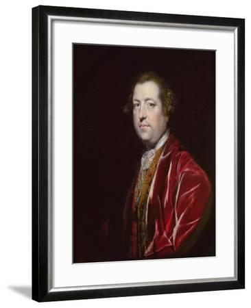 Portrait of the Rt. Hon. Charles Townshend MP (1725-67), C.1765-67-Sir Joshua Reynolds-Framed Giclee Print