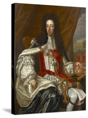 Portrait of King William III-Frans van Stampart-Stretched Canvas Print