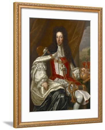 Portrait of King William III-Frans van Stampart-Framed Giclee Print