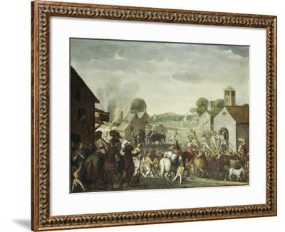 Troops Plundering a Village During the Thirty Year' War, 1660-Cornelis De Wael-Framed Giclee Print