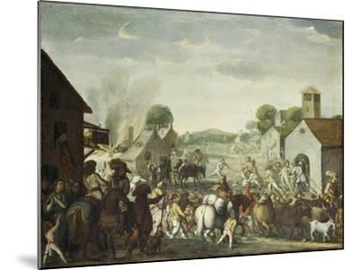 Troops Plundering a Village During the Thirty Year' War, 1660-Cornelis De Wael-Mounted Giclee Print