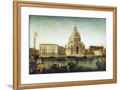 Santa Maria Della Salute, Venice, with Gondolas on the Grand Canal-Michele Marieschi-Framed Giclee Print