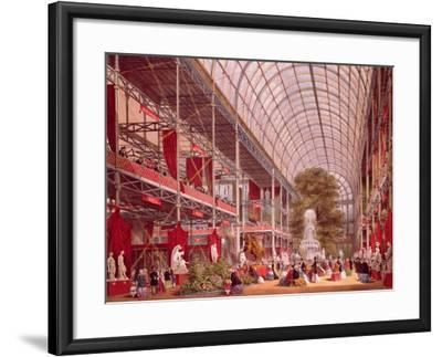 The Transept at the Great Industrial Exhibition of 1851-Joseph Nash-Framed Giclee Print