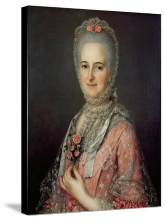 Mrs Jane Huddleston (D.1772)-Jean-Marc Nattier-Stretched Canvas Print