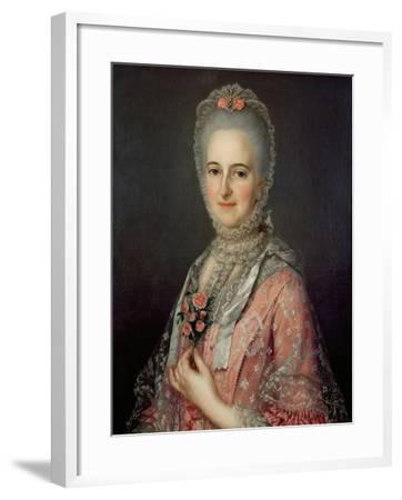 Mrs Jane Huddleston (D.1772)-Jean-Marc Nattier-Framed Giclee Print