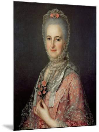 Mrs Jane Huddleston (D.1772)-Jean-Marc Nattier-Mounted Giclee Print
