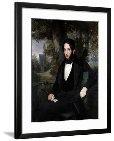 Marriage Portrait of Lionel Nathan Rothschild, 1836-Moritz Daniel Oppenheim-Framed Giclee Print