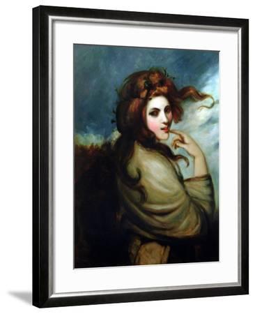 Portrait of Emma Hamilton (C.1765-1815)-George Romney-Framed Giclee Print